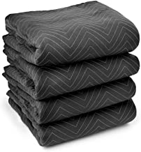"""Sure-Max 4 Moving & Packing Blankets - Ultra Thick Pro - 80"""" x 72"""" (65 lb/dz weight) - Professional Quilted Shipping Furni..."""