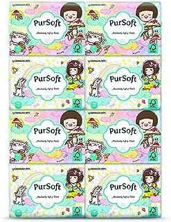 PurSoft Choc Rain 3 Ply Pocket Tissue, 8ct (Pack of 48)