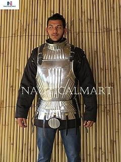 NAUTICALMART Gothic Breastplate Armor Steel Costume Medieval Breastplate Suit