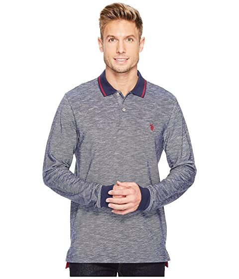 f4c6cf1ea91 U.S. POLO ASSN. Classic Fit Solid Long Sleeve Pique Polo Shirt at 6pm