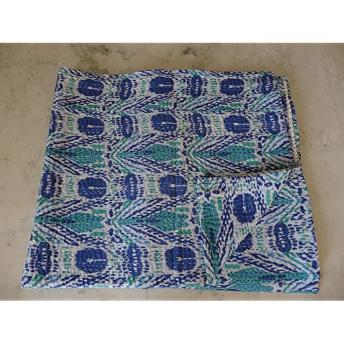 Bedding Quilts, Bedspreads & Coverlets Professional Sale Indian Handblock Floral Printed Kantha Quilt Throw Badspread Queen Gudri 90x108