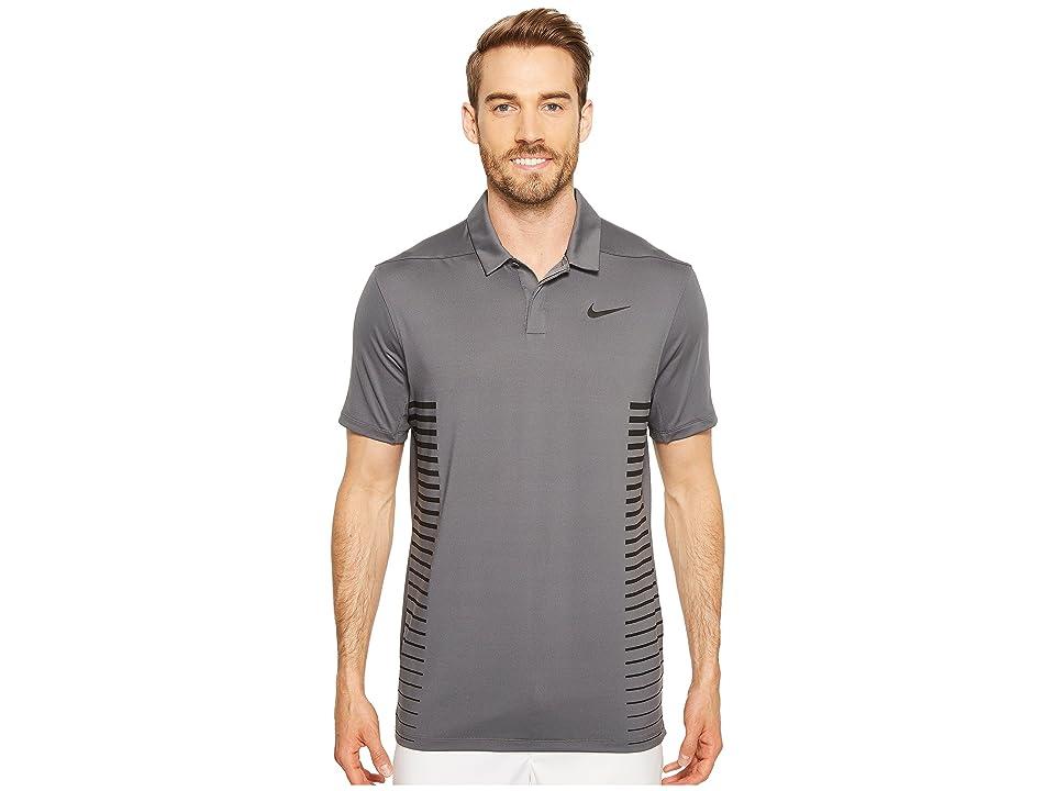 Nike Golf Zonal Cooling Print Polo (Dark Grey/Black/White/Flat Silver) Men