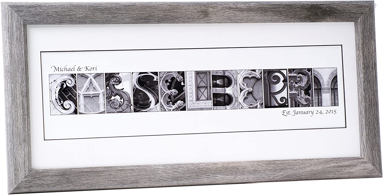 Creative Letter Ultra-Cheap Deals Art Personalized Framed Name 26 Made inch by 12 Very popular