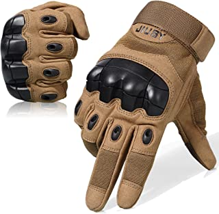 WTACTFUL Touch Screen Military Rubber Hard Knuckle Tactical Gloves Full Finger and Half Finger Cycling Motorcycle