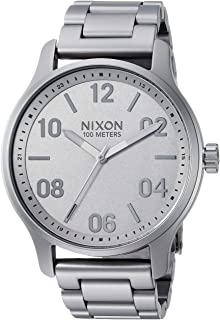 NIXON Patrol A1242-100m Water Resistant Men's Analog Classic Watch (42mm Watch Face, 21mm-19mm Stainless Steel Band)