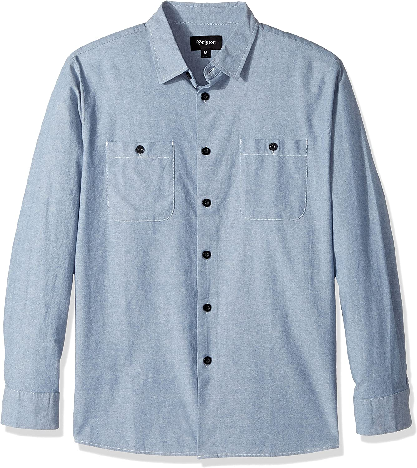 Brixton Mens Reeve Relaxed Fit Long Sleeve Woven Shirt Button-Down Shirt