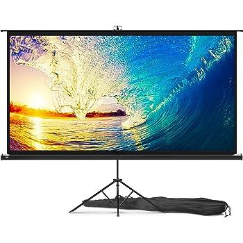 celexon 90 Tripod Projector Screen Ultra Lightweight Projector Screen Size: 72/'/' x 54/'/' 4:3 Format 11 lbs Weight