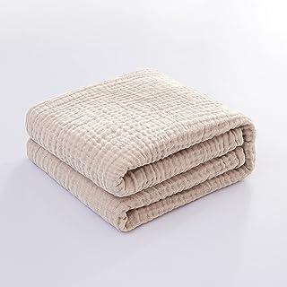 AIFY ガーゼケット 4重ガーゼ シングル 綿100% 洗える やわらか 夏 肌掛け布団 冷房対策 タオルケット 丸洗いOK 140×190cm ベージュ
