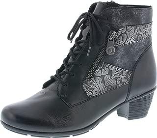 Remonte Damen Schuhe Stiefel Stiefelette Boots Schnürer D8771 grau