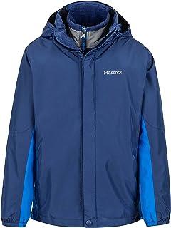 Marmot Boys' Northshore Waterproof Hooded Rain Jacket with Removable Fleece Liner