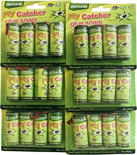 Cotton Fly Green Tree Fly paper Ribbon,Fly catcher Trap, Sticky Fly Ribbons pack of 24 pcs