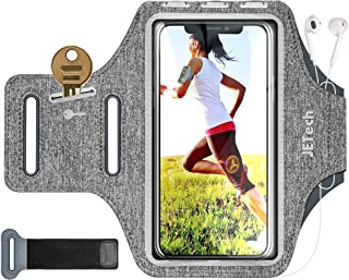 JETech Cell Phone Armband Case for Phone Up to 6.2 inch, Adjustable Band, w/Key Holder and Card Slot, for Running, Walkin...