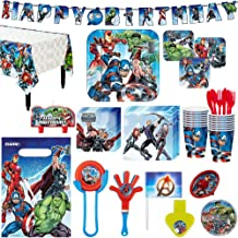 Avengers Superhero Birthday Party Kit, Includes Happy Birthday Banner and Party Favor Pack, Serves 16, by Party City