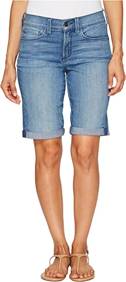 Petite Briella Roll Cuff Shorts in Jet Stream