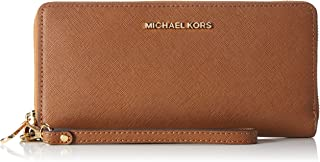 e275d0465956 Michael Kors Women s Jet Set Travel Leather Continental Wristlet