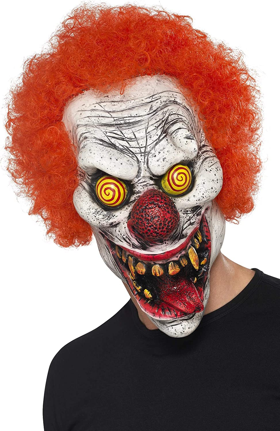 Foam Latex Adult Mens Smiffys Fancy Dress Masks Scary Clown Mask