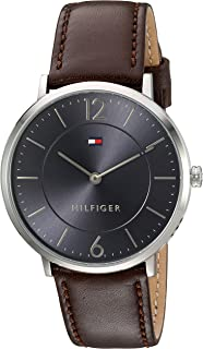 Tommy Hilfiger Men's 'Sophisticated Sport' Quartz Stainless Steel and Leather Watch, Color:Brown (Model: 1710352)