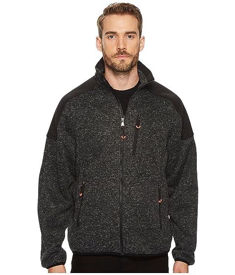 Fleece Front Heathered Zip Jacket IZOD Sweater BpIUcB4