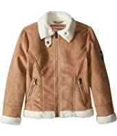 Urban Republic Kids - Ultra Suede Faux Shearling Jacket (Little Kids)