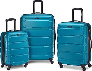 Samsonite Omni PC Hardside Expandable Luggage with Spinner Wheels, Caribbean Blue, 3-Piece Set (20/24/28)