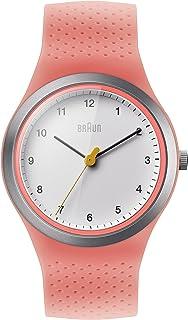 Braun Reloj de Cuarzo para Mujer con Esfera Blanca