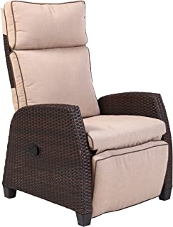 Grand Patio Aluminum Indoor & Outdoor Recliner, Mocha Brown