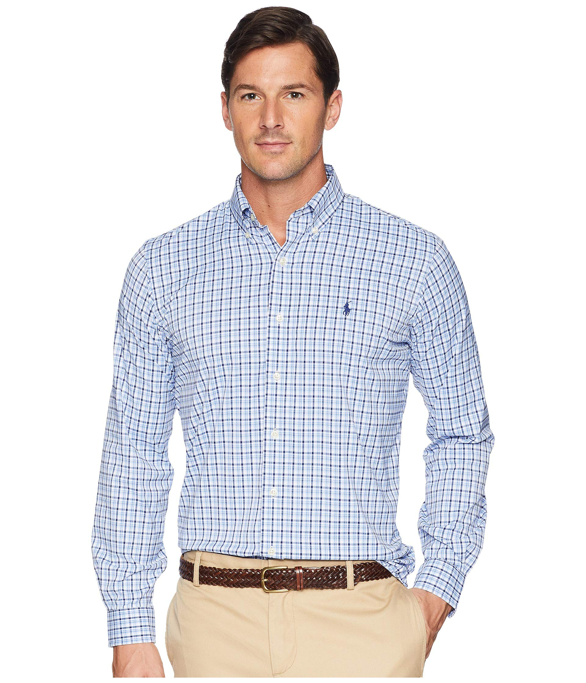 Fit Shirt Sports Polo Classic Blue Woven Ralph Lauren Multi white Performance xFwnqnO40S
