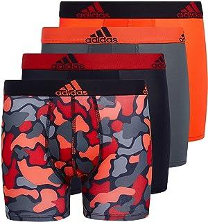 adidas Kid's-Boy's Performance Boxer Briefs Underwear (4-Pack)