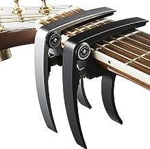 Best Nordic Essentials Aluminum Metal Universal Guitar Capo, 1.2 oz (2 Pack) - Black and Silver Reviews