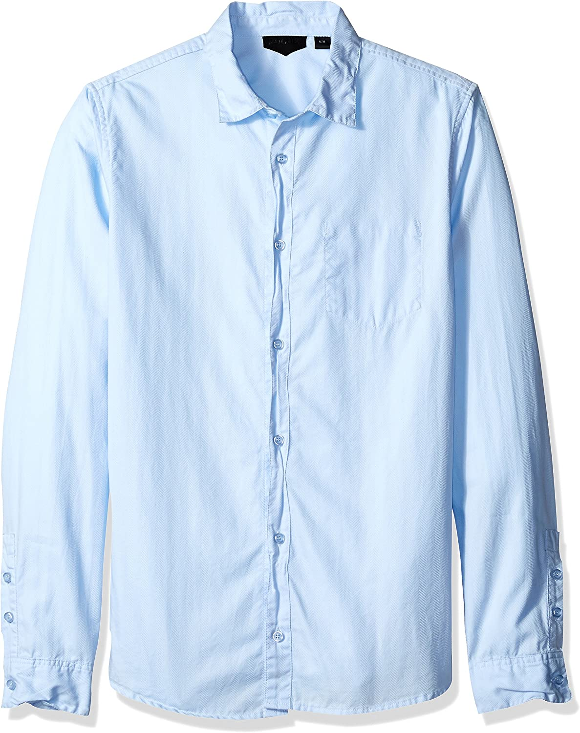 ROGUE Men's Button Over item handling ☆ Up Shirt Woven Solid Sales