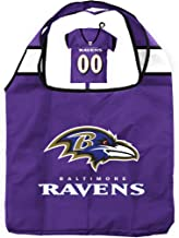 NFL Bag in Pouch | Reusable Polyester Shopping Grocery Bags | Heavy Duty | Foldable | Lightweight