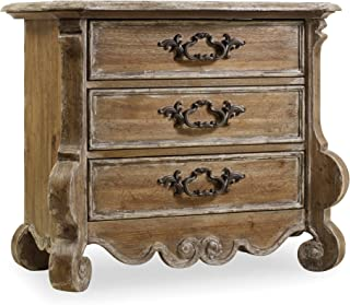 Hooker Furniture Chatelet 3 Drawer Nightstand in Caramel Froth