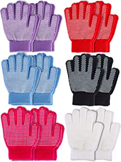 Sumind 12 Pairs Kids Winter Gloves Full Finger Mittens Colored Knit Gloves for Boys Girls, 2 Styles