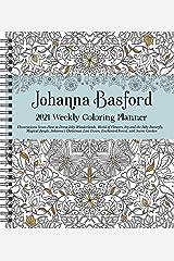Johanna Basford 2021 Weekly Coloring Planner Calendar Calendar