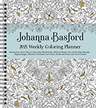 Download Johanna Basford 2021 Weekly Coloring Planner Calendar PDF