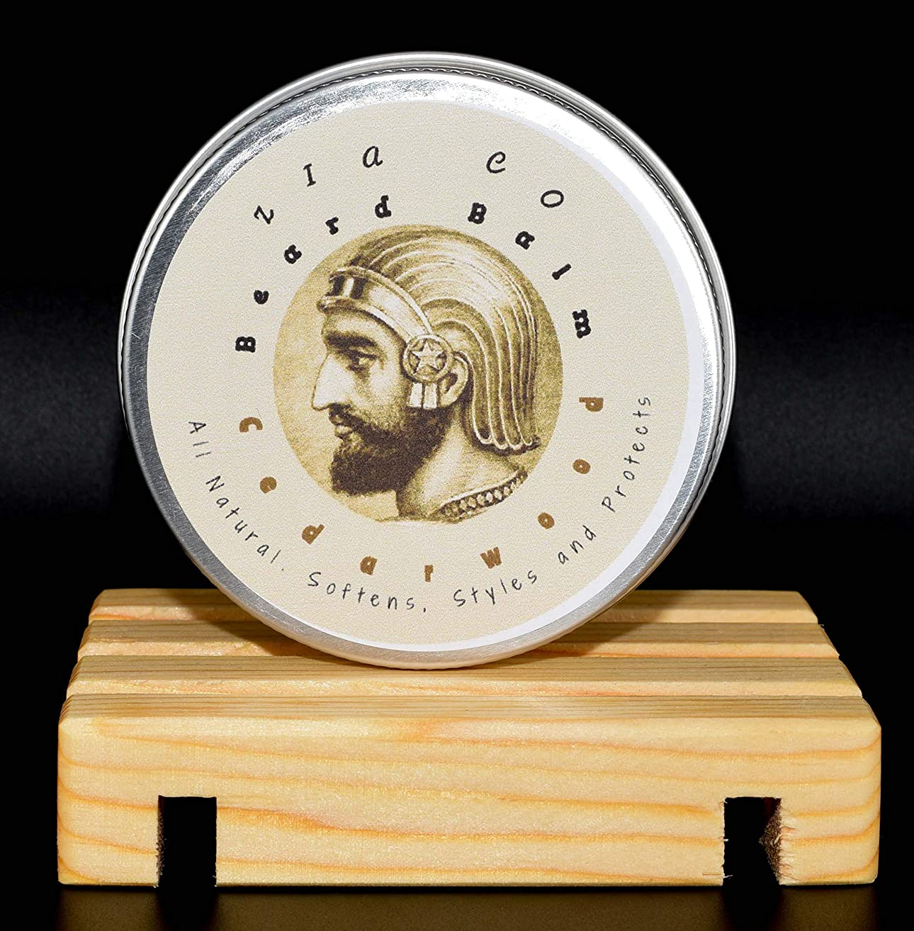 Beard Balm. All natural. Softens and protects. Styles with light hold. Moisturizes. Shea Butter, Sweet Almond and Argan Oil