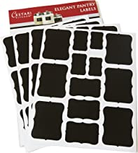 Chalkboard Labels Set of 52 Assorted Premium Reusable Decorative Blackboard Label Stickers for Stylish Organization, Wedding Decorations, and Craft Projects - Chalk Labels by Cestari Kitchen