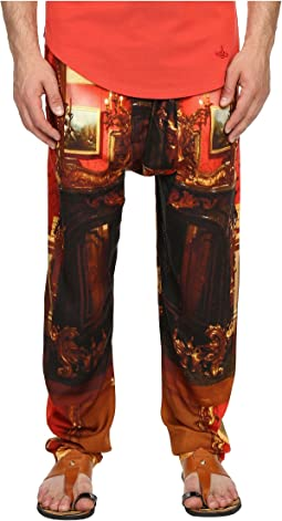Wallace Print Viscose Squiggle Trousers