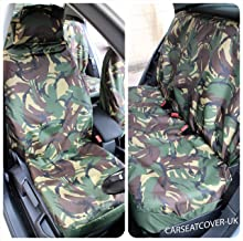 Colt Lancer L200 ASX Mirage Galant ASK Outlander Shogun Space Runner GTO FTO Grandis Challenger FSW Heavy Duty Waterproof Car Front Green Camo Seat Covers 1+1 Green Camo HD1+1 Fits: 3000GT