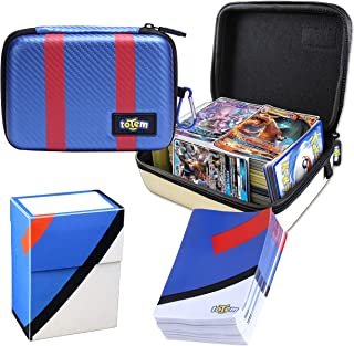 Totem World Great Ball Themed Card Case for Pokemon Cards with Deck Protector Box and 100 Card Sleeves - Kid Safe Zipper Carrying Organizer - 500 Card Holder