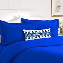 Elegant Comfort Best, Softest, Coziest Duvet Cover Ever! 1500 Thread Count Egyptian Quality Luxury Super Soft Wrinkle Free 3-Piece Duvet Cover Set, Full/Queen, Royal Blue