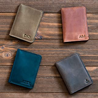Jjnusa Personalized Men's Minimalist Leather Wallet