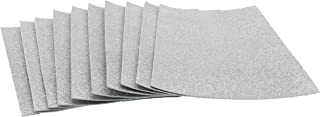 Glitter Foam Sheets Self Adhesive Sticky 8 x 12 Back Paper 10 Pack for Children's Craft Activities DIY Cutters Arts and Crafts (Silver)