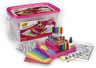 Crayola Fabulous Art Kit, Amazon Exclusive, Art Supplies, Over 100Piece, Gift for Girls, Age 5, 6, 7, 8