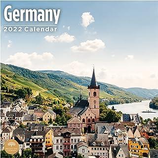 2022 Germany Wall Calendar by Bright Day, 12 x 12 Inch, European Travel Destination