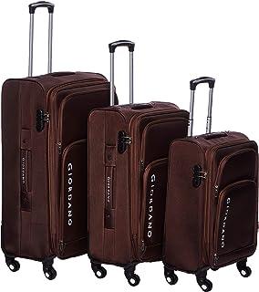 Giordano luggage - 161762 soft case trolley 3 pcs set with 4 wheel