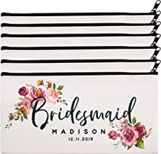 personalized cosmetic bags bridal party
