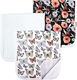 "Baby Burp Cloth Large 21''x10'' Size Premium Absorbent Triple Layer 3-Pack Gift Set ""Dot"" by Copper Pearl"
