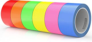 LLPT Duct Tape 6 Premium Assorted Color Packs 2 Inch x 30 Feet x 11 Mil Included Blue Pink Yellow Green Orange Red (DT606)