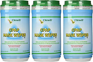 Citrus II Cpap Mask Wipes Qty: 62 Wipes - Pack of 3